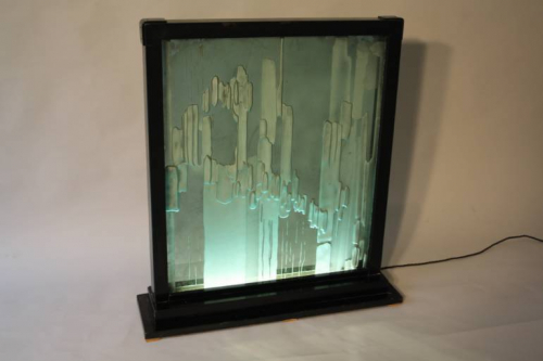 A large Mirror light box, c1970