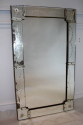 1920`s rectangular Venetian mirror with etched detail. - picture 1