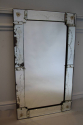 1920`s rectangular Venetian mirror with etched detail. - picture 2