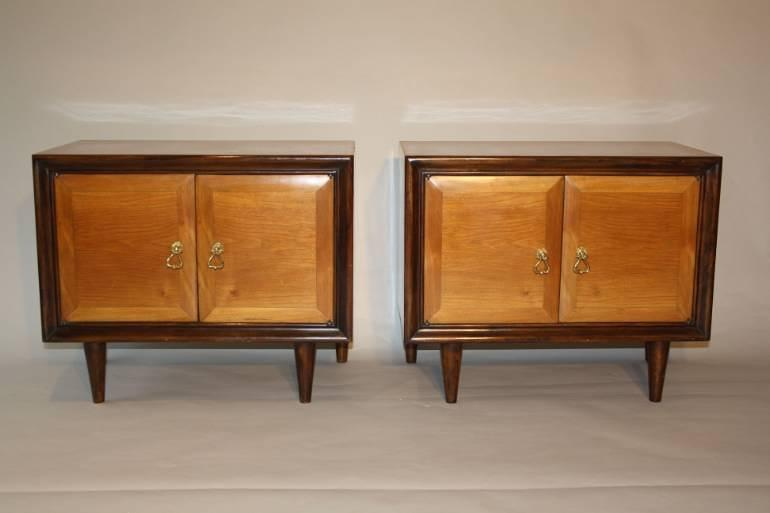 Pair of Italian bedside cabinets