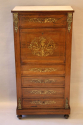 Rosewood and brass inlaid secretaire tall boy - picture 4