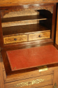 Rosewood and brass inlaid secretaire tall boy - picture 9