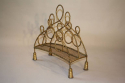 Gilt metal magazine rack, French c1950 - picture 1
