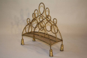 Gilt metal magazine rack, French c1950 - picture 2