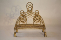 Gilt metal magazine rack, French c1950 - picture 3