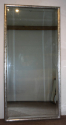 Antique French rectangular silver leaf bistro mirror, c1900 - picture 2