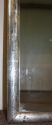 Antique French rectangular silver leaf bistro mirror, c1900 - picture 4