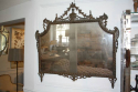 Carved wood and polychrome over mantle mirror - picture 1