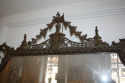 Carved wood and polychrome over mantle mirror - picture 2