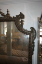 Carved wood and polychrome over mantle mirror - picture 3