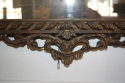 Carved wood and polychrome over mantle mirror - picture 4
