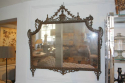 Carved wood and polychrome over mantle mirror - picture 6