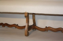 Antique long carved walnut bench, Spanish c1900 - picture 2