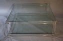 Square two tier lucite coffee table - picture 3