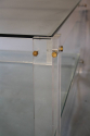Square two tier lucite coffee table - picture 4