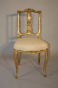Carved gilt wood chair, French C19th - picture 2