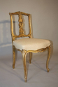 Carved gilt wood chair, French C19th - picture 4