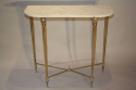 An elegant marble and gilt metal console - picture 1
