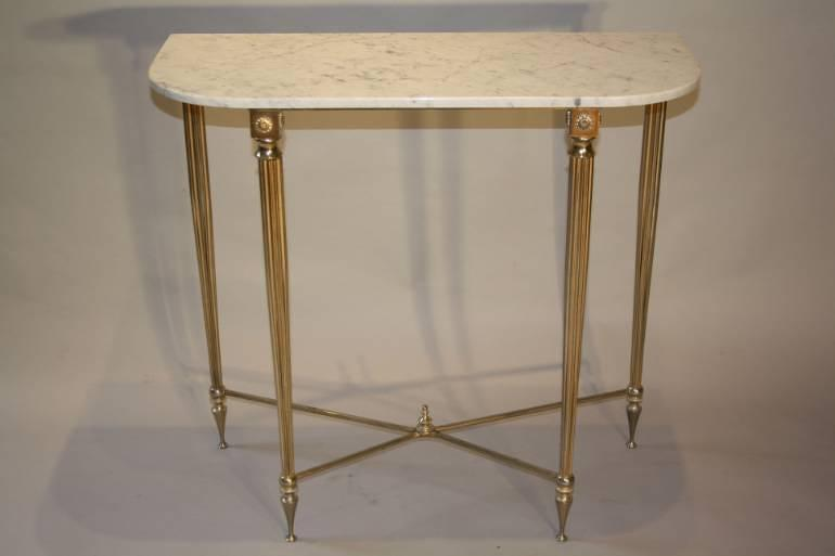An elegant marble and gilt metal console