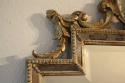 Carved wood silver overmantle mirror - picture 2
