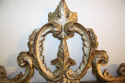 Carved wood silver overmantle mirror - picture 4