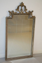 Carved wood silver overmantle mirror - picture 6