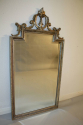 Carved wood silver overmantle mirror - picture 7