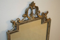 Carved wood silver overmantle mirror - picture 8