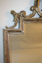 Carved wood silver overmantle mirror - picture 9