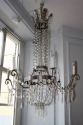 A very elegant silver six light chandelier, French c1970 - picture 1