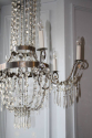 A very elegant silver six light chandelier, French c1970 - picture 2