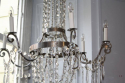 A very elegant silver six light chandelier, French c1970 - picture 3