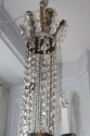A very elegant silver six light chandelier, French c1970 - picture 4
