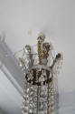 A very elegant silver six light chandelier, French c1970 - picture 6