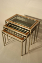 A Walnut and Steel Nest of Tables - picture 1