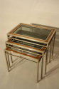 A Walnut and Steel Nest of Tables - picture 3
