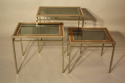 A Walnut and Steel Nest of Tables - picture 4