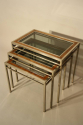 A Walnut and Steel Nest of Tables - picture 5