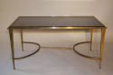 Gilt bronze occasional table with grey mirror glass, French c1950 - picture 1