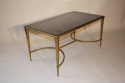 Gilt bronze occasional table with grey mirror glass, French c1950 - picture 2