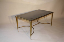 Gilt bronze occasional table with grey mirror glass, French c1950 - picture 4