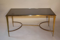 Gilt bronze occasional table with grey mirror glass, French c1950 - picture 6