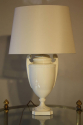 A pair of Royal Worcester creamware urn table lamps, English c1950 - picture 2