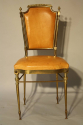 A pair of gilt brass and leather chairs - picture 4