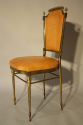A pair of gilt brass and leather chairs - picture 5
