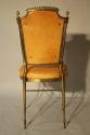 A pair of gilt brass and leather chairs - picture 6
