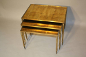 Gold leaf nest of tables - picture 1