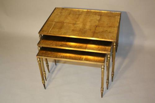 Gold leaf nest of tables