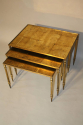 Gold leaf nest of tables - picture 2