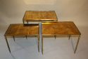 Gold leaf nest of tables - picture 6